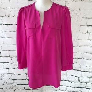 Cynthia Steffe Blouse with Epaulets Size M